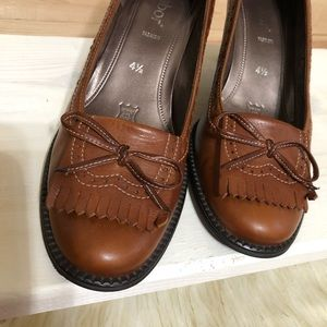 Gabor Brown Leather Shoes Size 4.5 ( 6.5 )